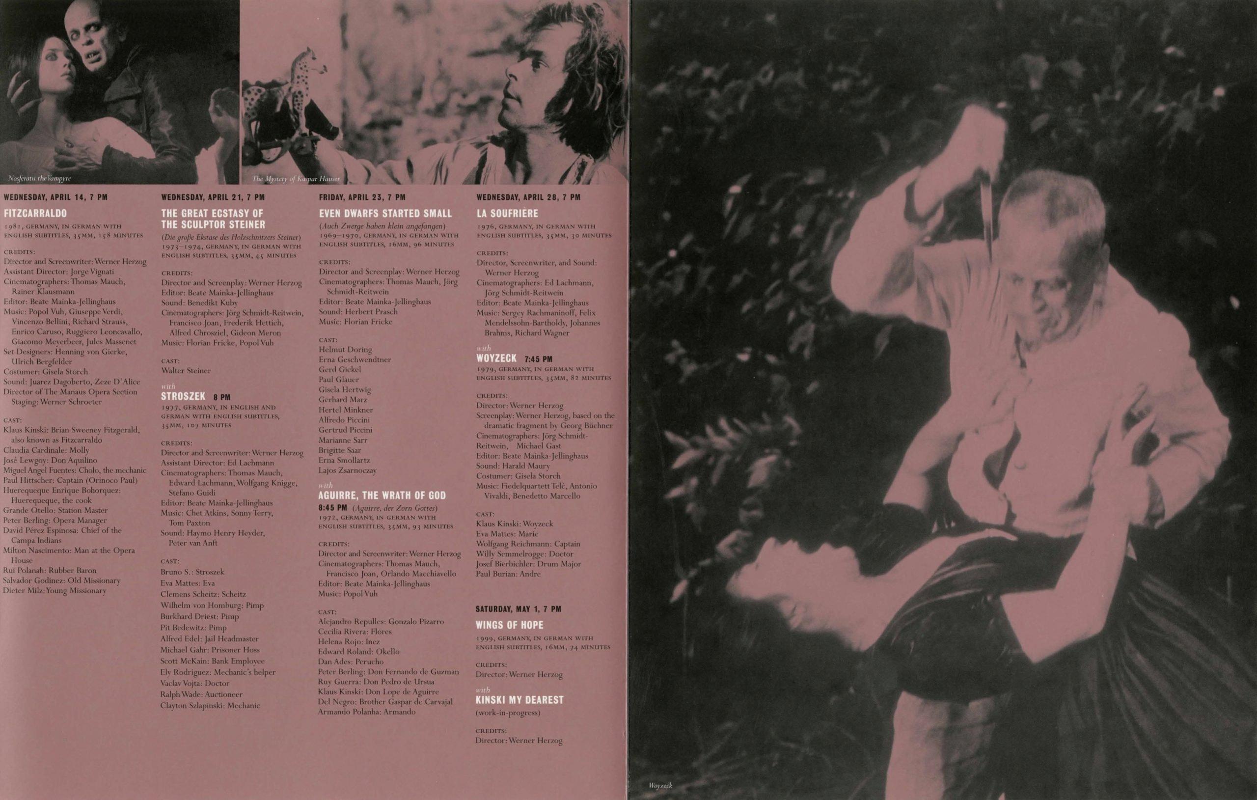 Werner Herzog Dialogue event brochure page 3
