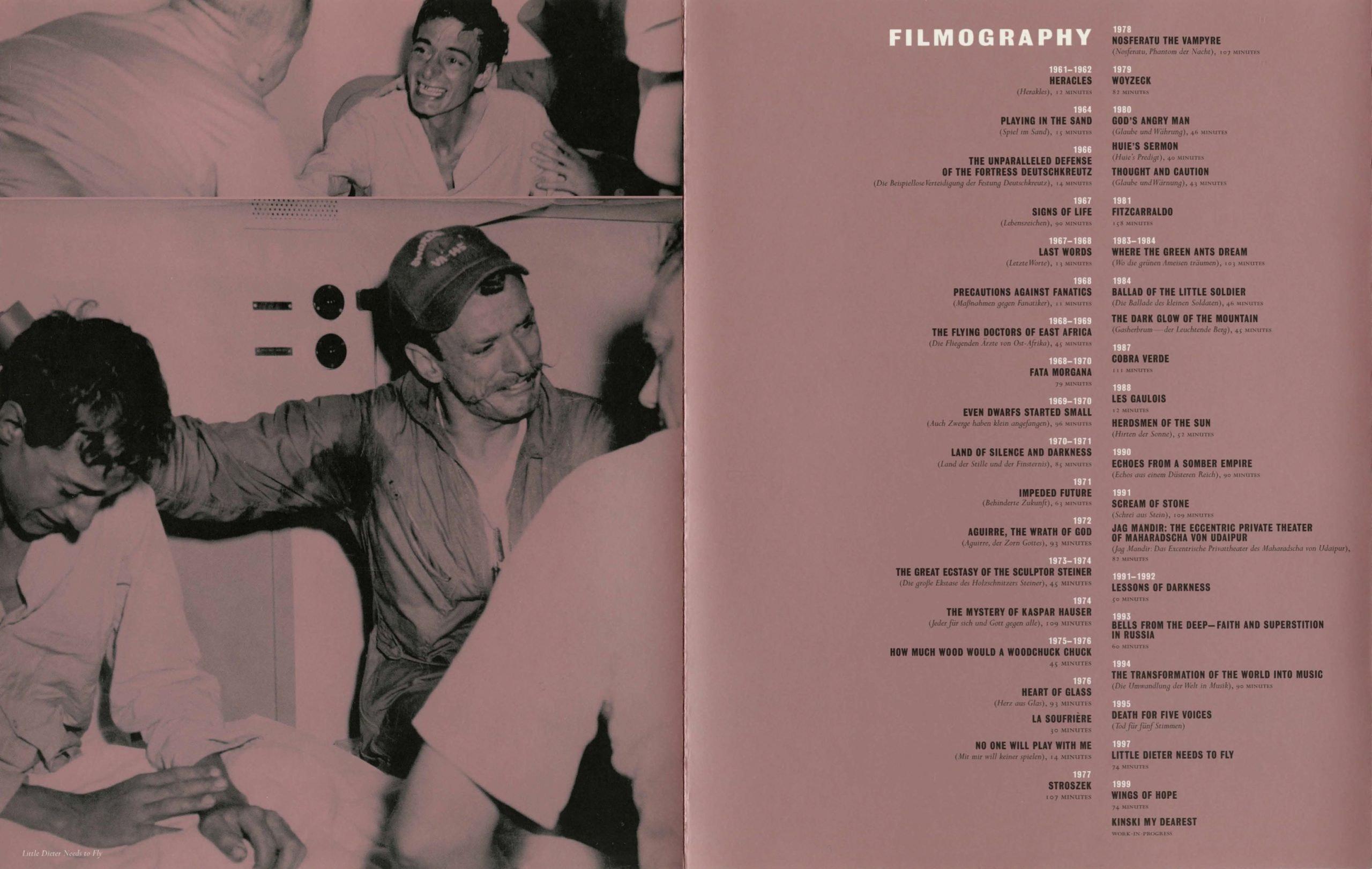Werner Herzog Dialogue event brochure page 4