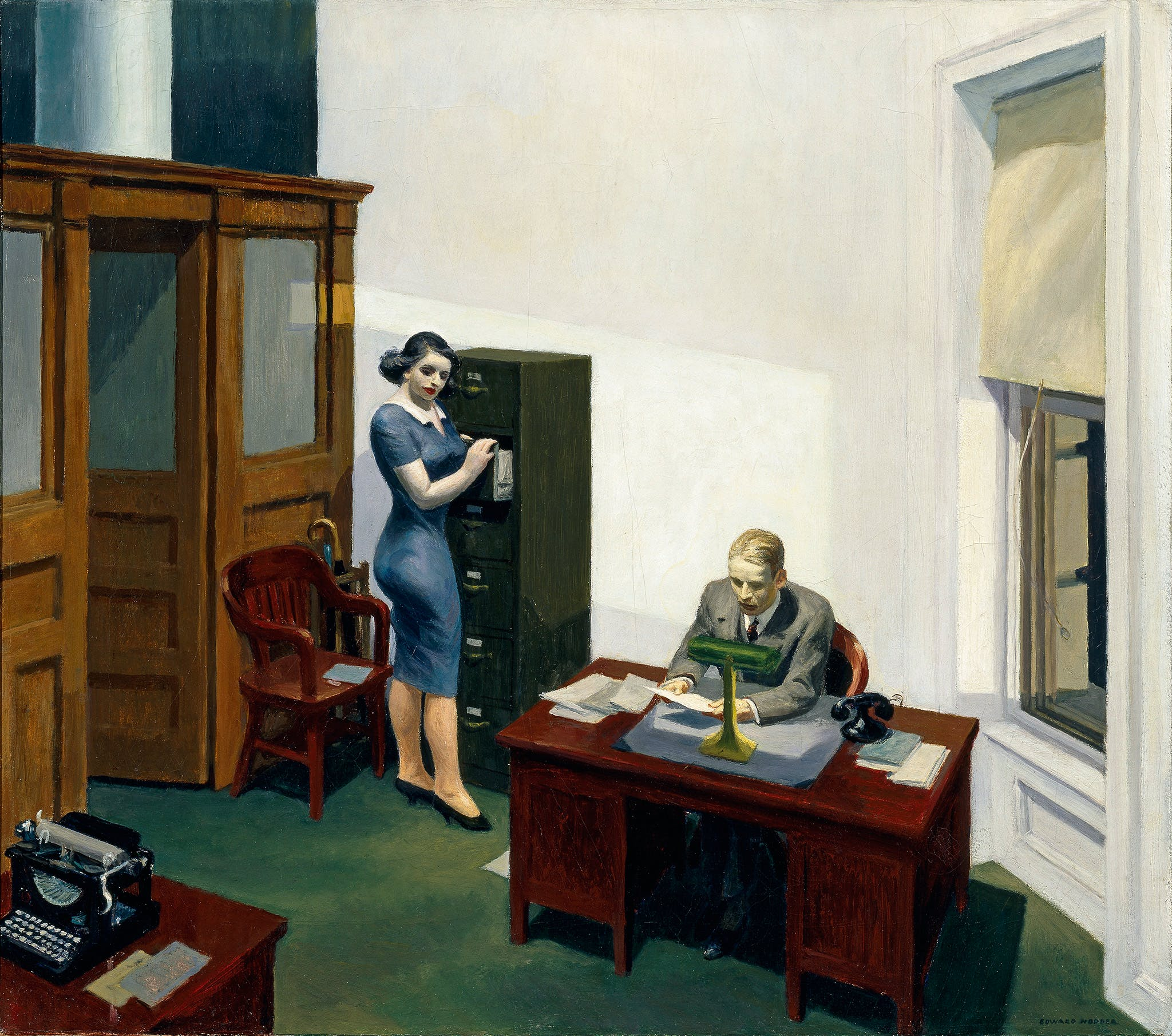 Edward Hopper, Office at Night, 1940