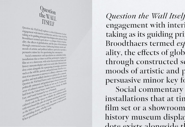 On Designing Question The Wall Itself