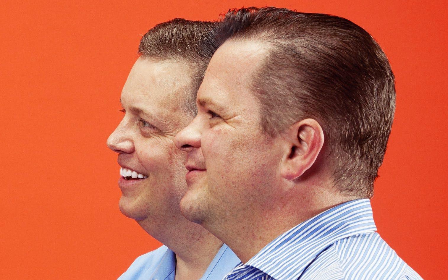 Robert Spikings (left) and Jeffery Perkey