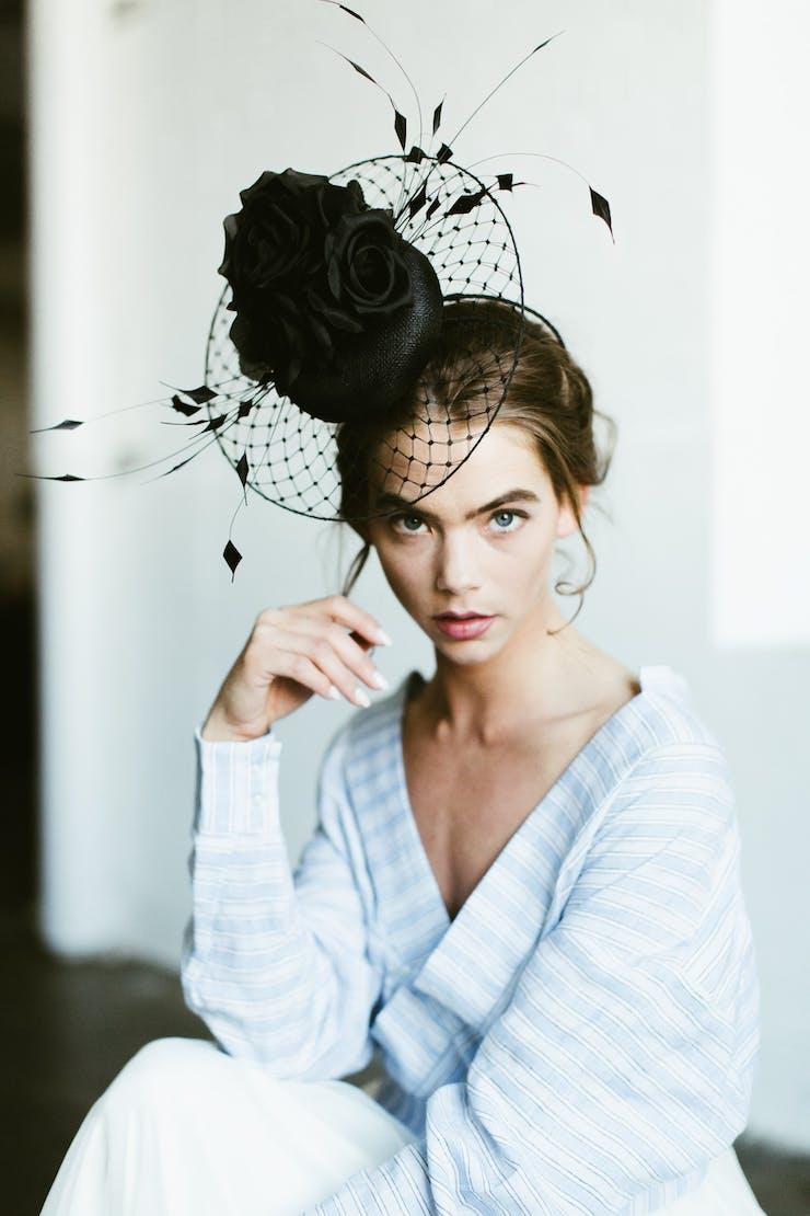 Karen Morris Millinery hat design. Photo: Laura Rae Photography