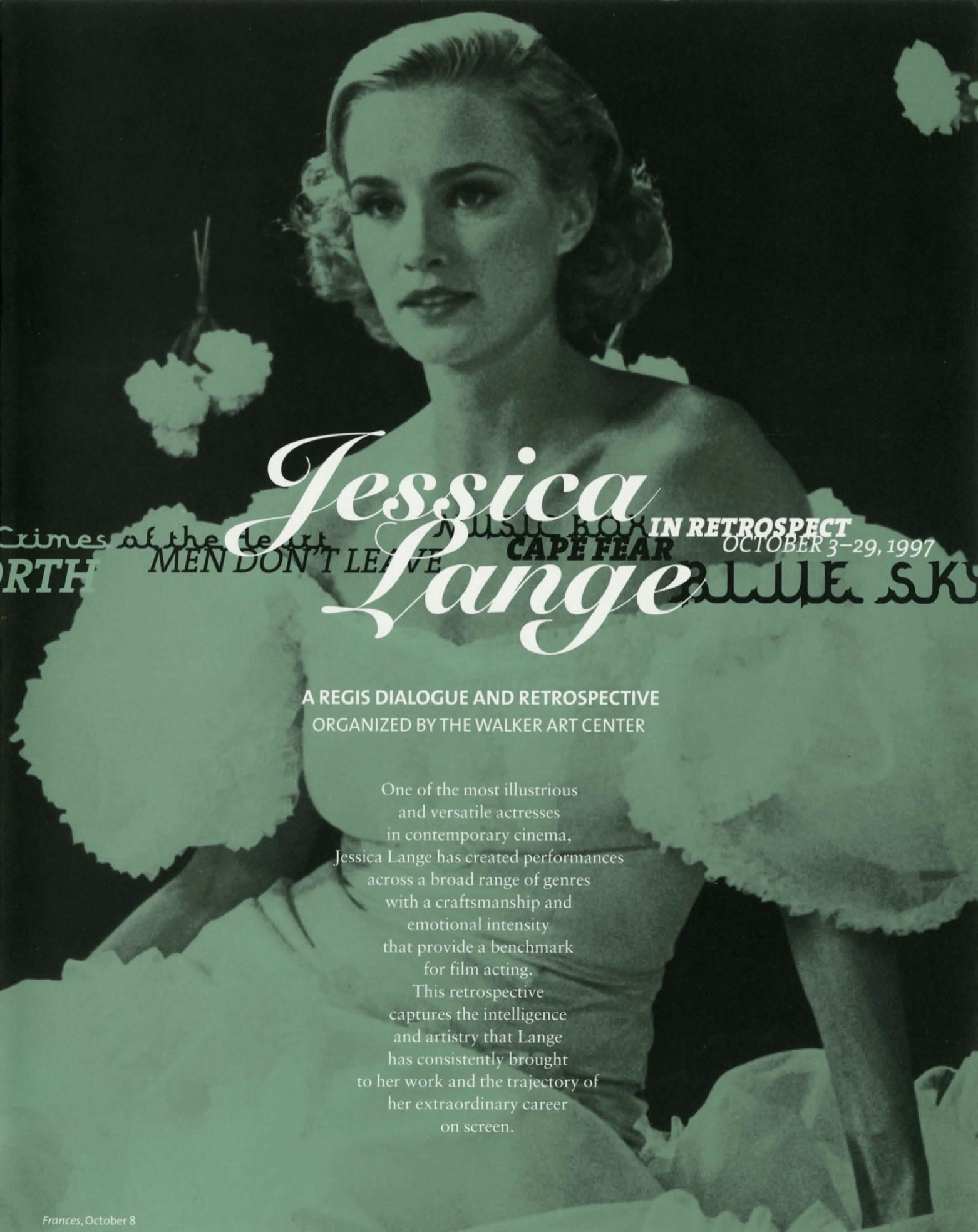 Jessica Lange brochure 1