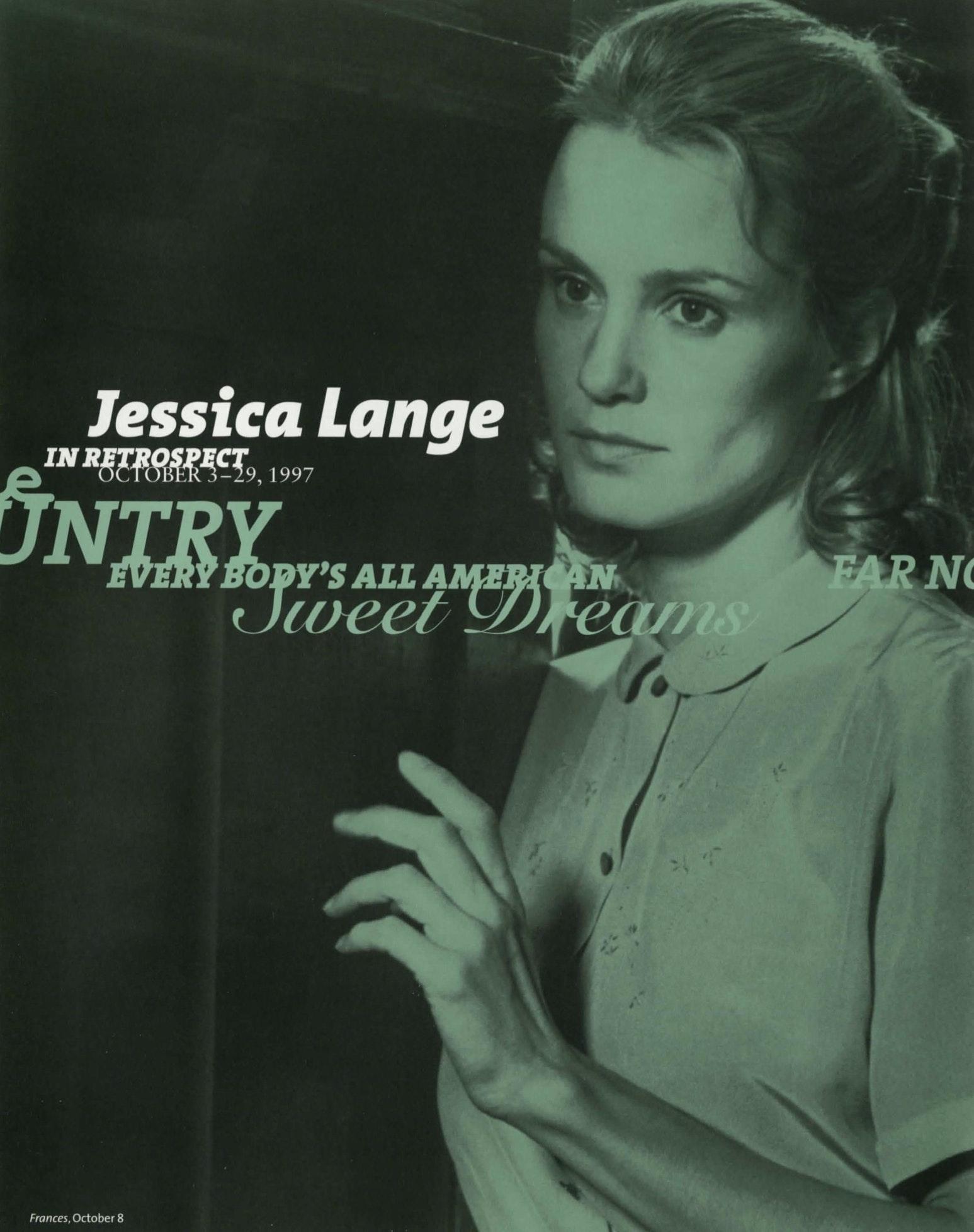 Jessica Lange brochure 4