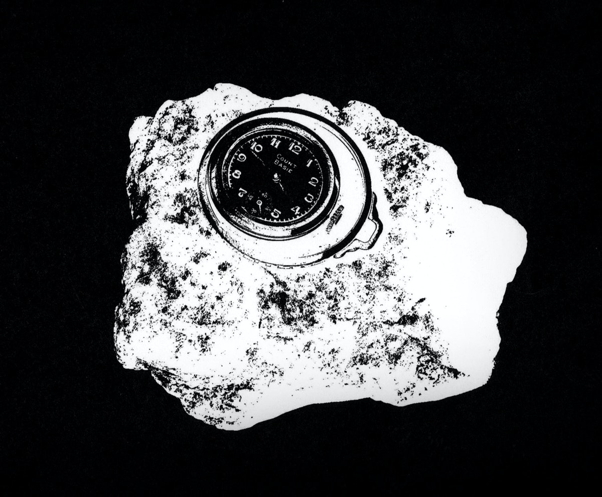 Rock with clock