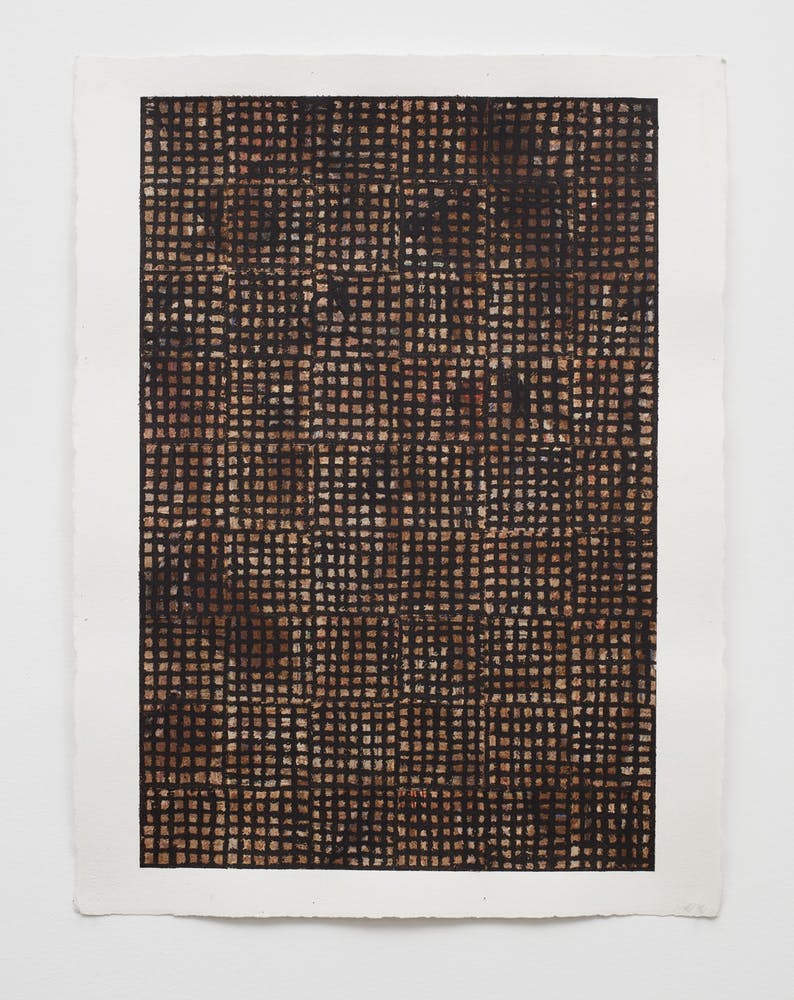 McArthur Binion, dna: sepia: paper: xii, 2016