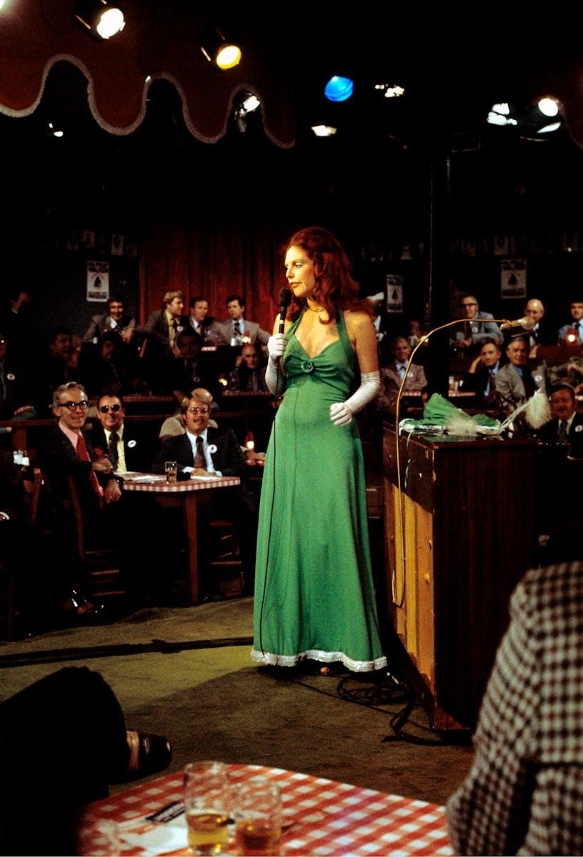 Women singing in country western club