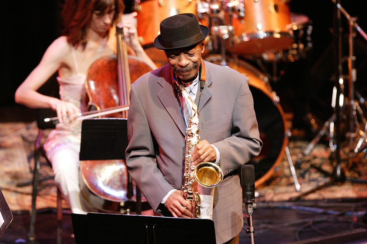 Ornette Coleman performing at the Walker's McGuire Theater in 2005. Photo: Gene Pittman