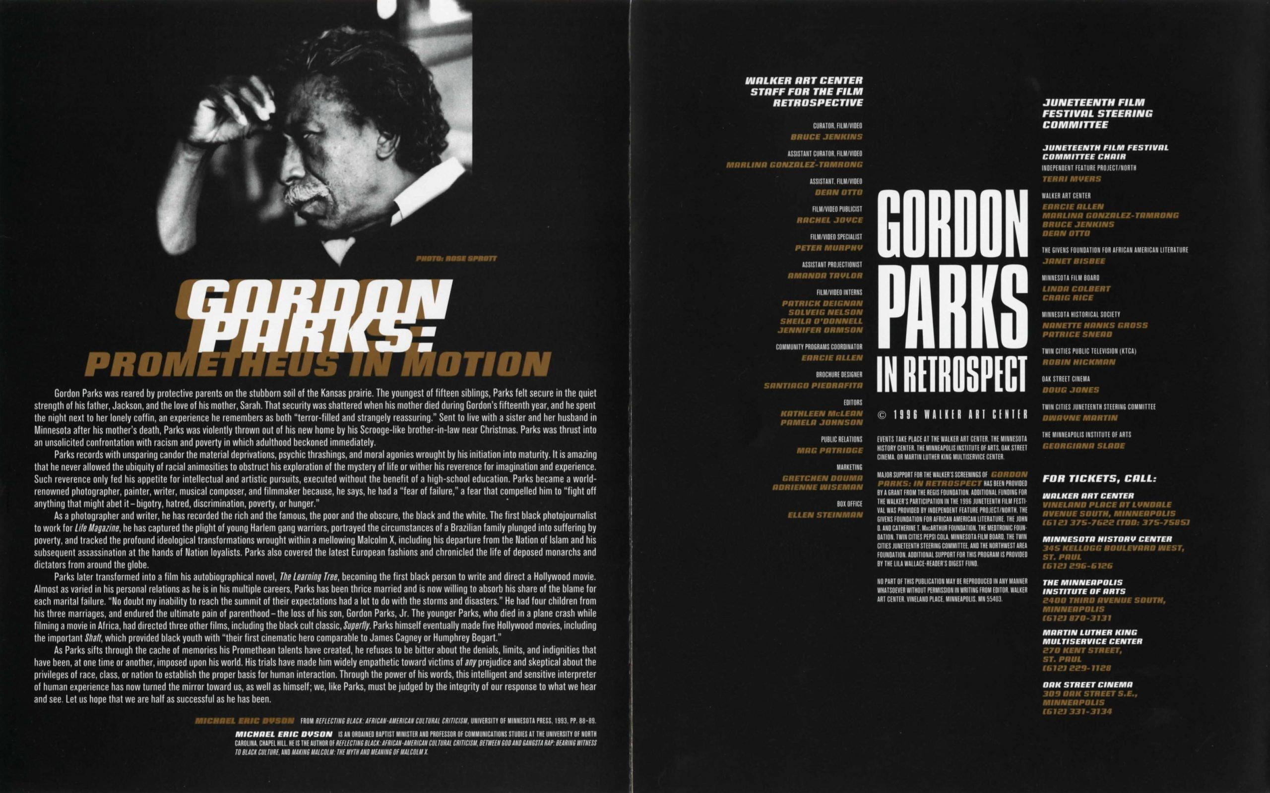 Gordon Parks brochure 2