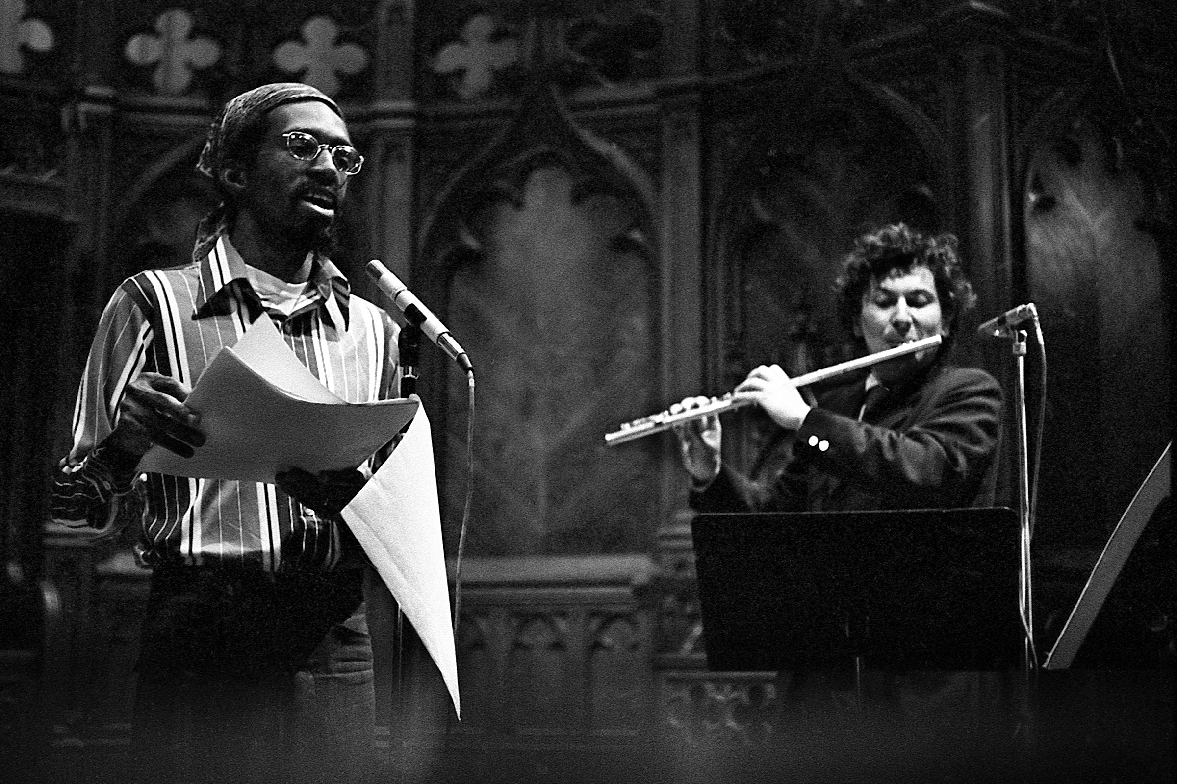 Julius Eastman and Petr Kotik on stage