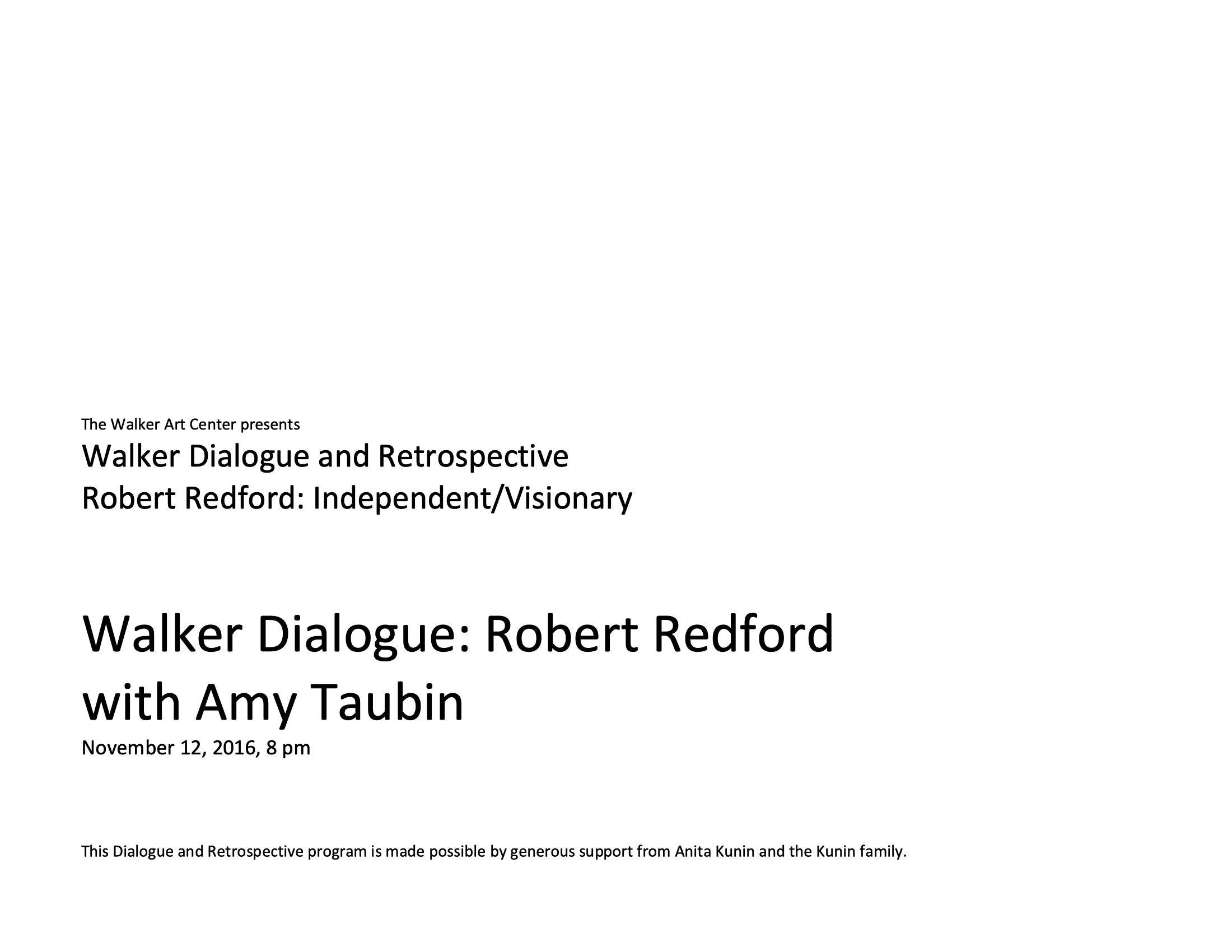 Robert Redford program notes pg1