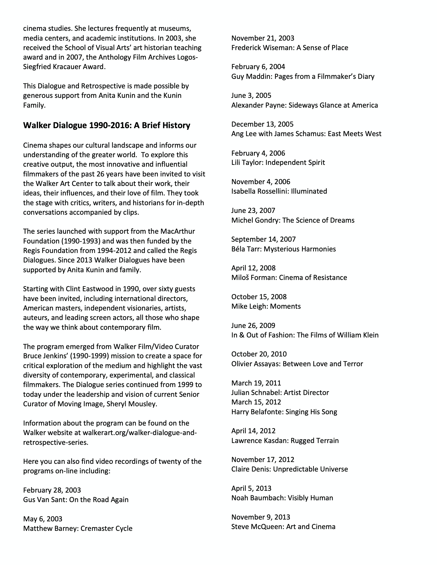 Robert Redford program notes pg 5