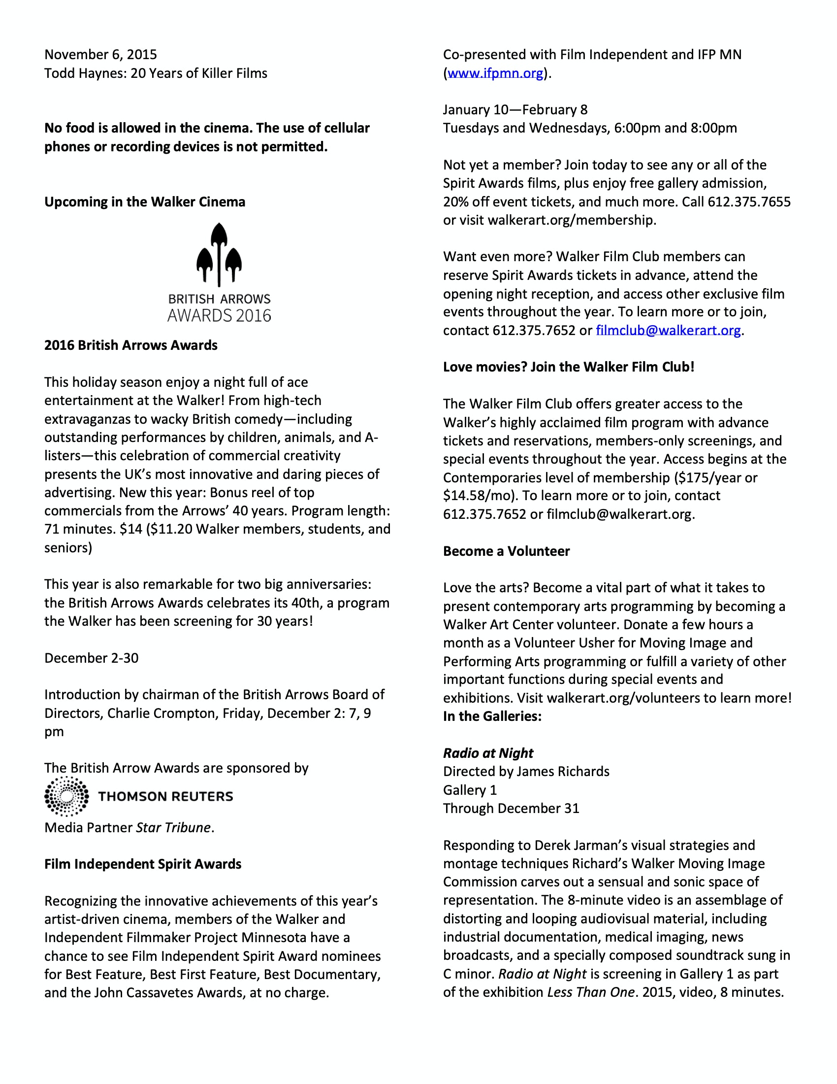 Robert Redford program notes pg 6
