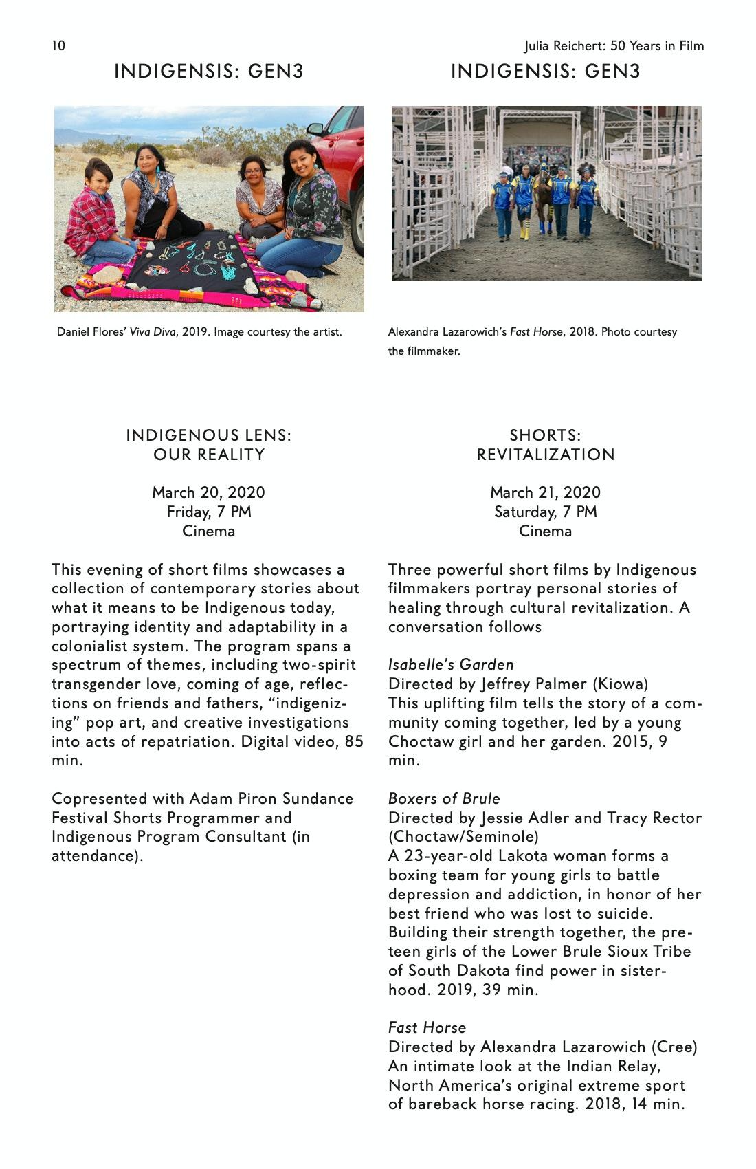 Julia Reichert Dialogue event brochure page 10