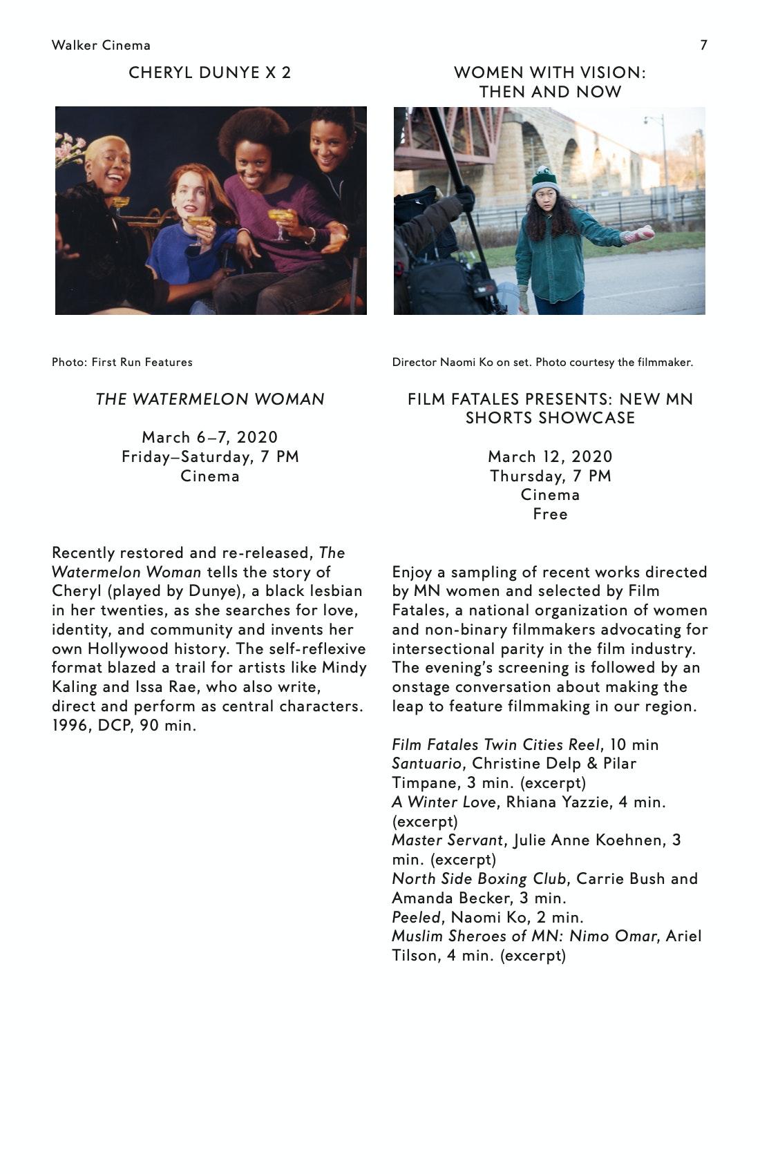Julia Reichert Dialogue event brochure page 7