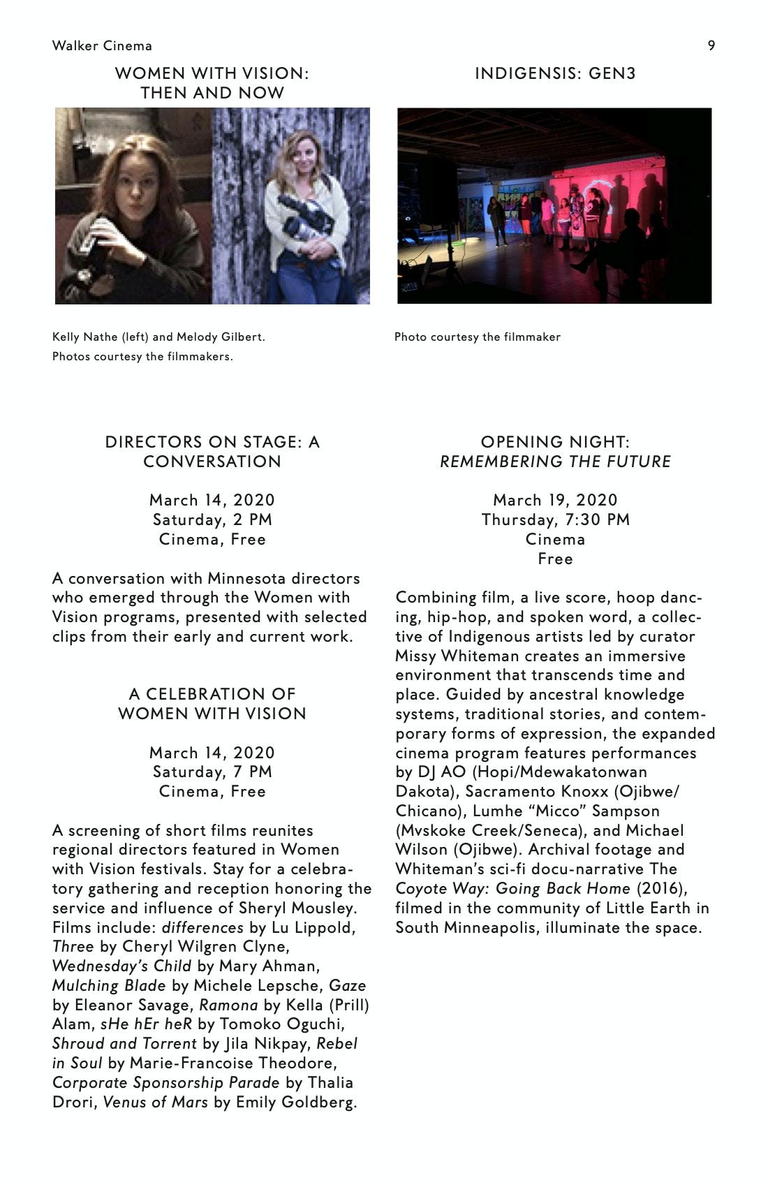 Julia Reichert Dialogue event brochure page 9