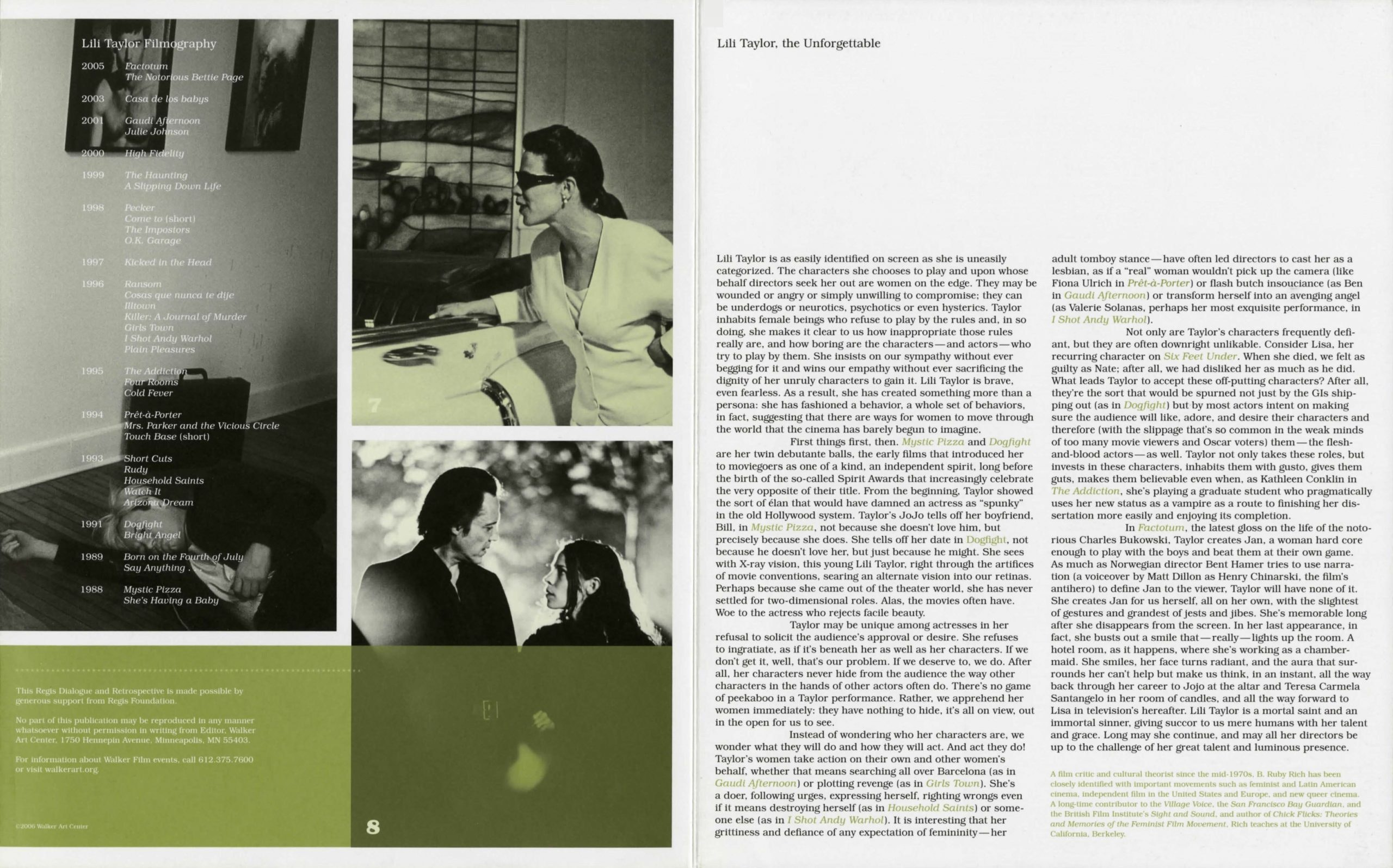 Lili Taylor Dialogue event brochure pg 4