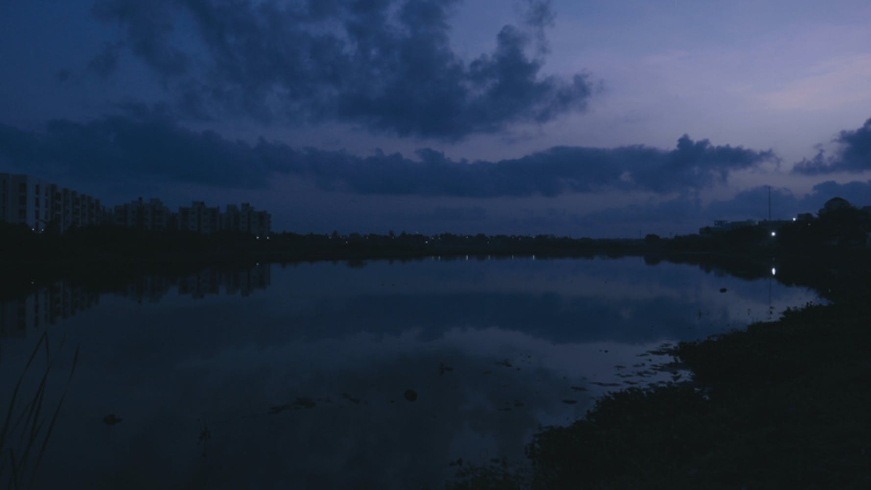 Image of lake in darkness