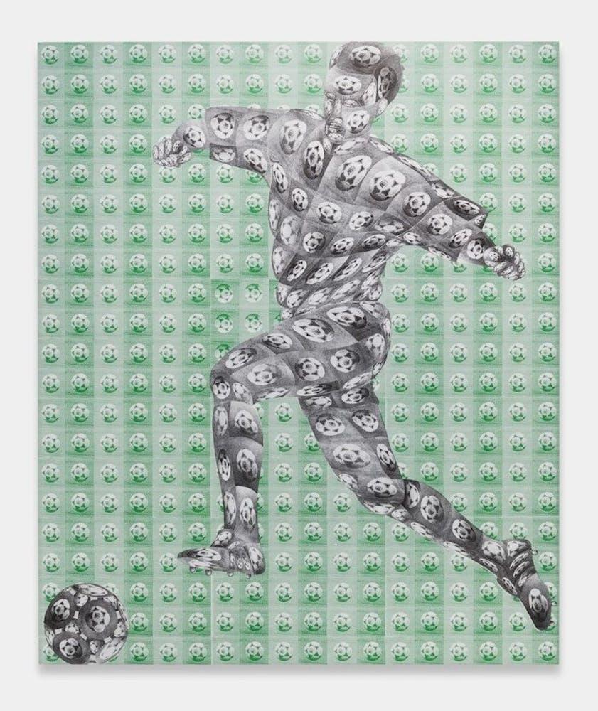 Thomas Bayrle Untitled, Fußballer, 1994