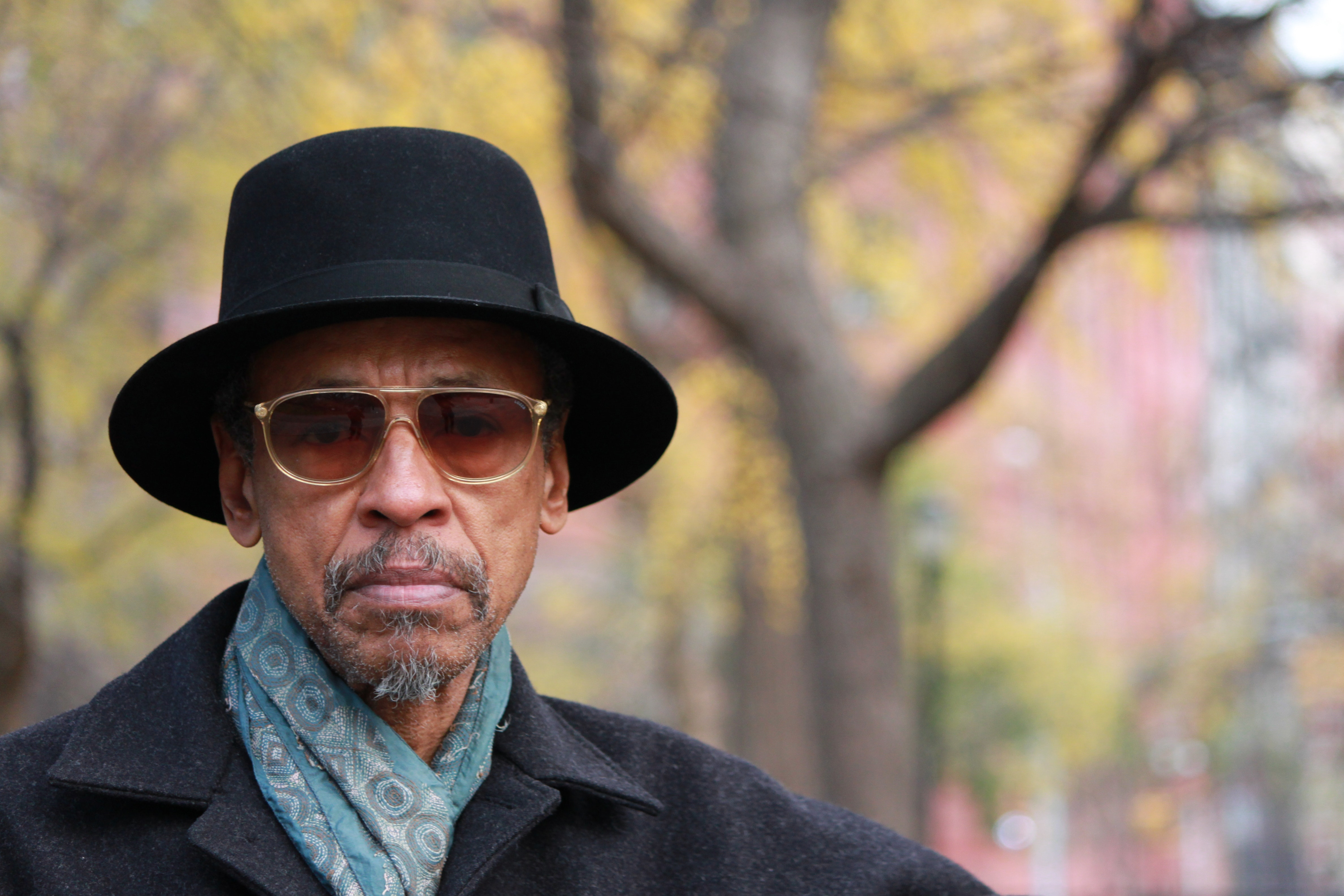 Henry Threadgill stares at the camera.