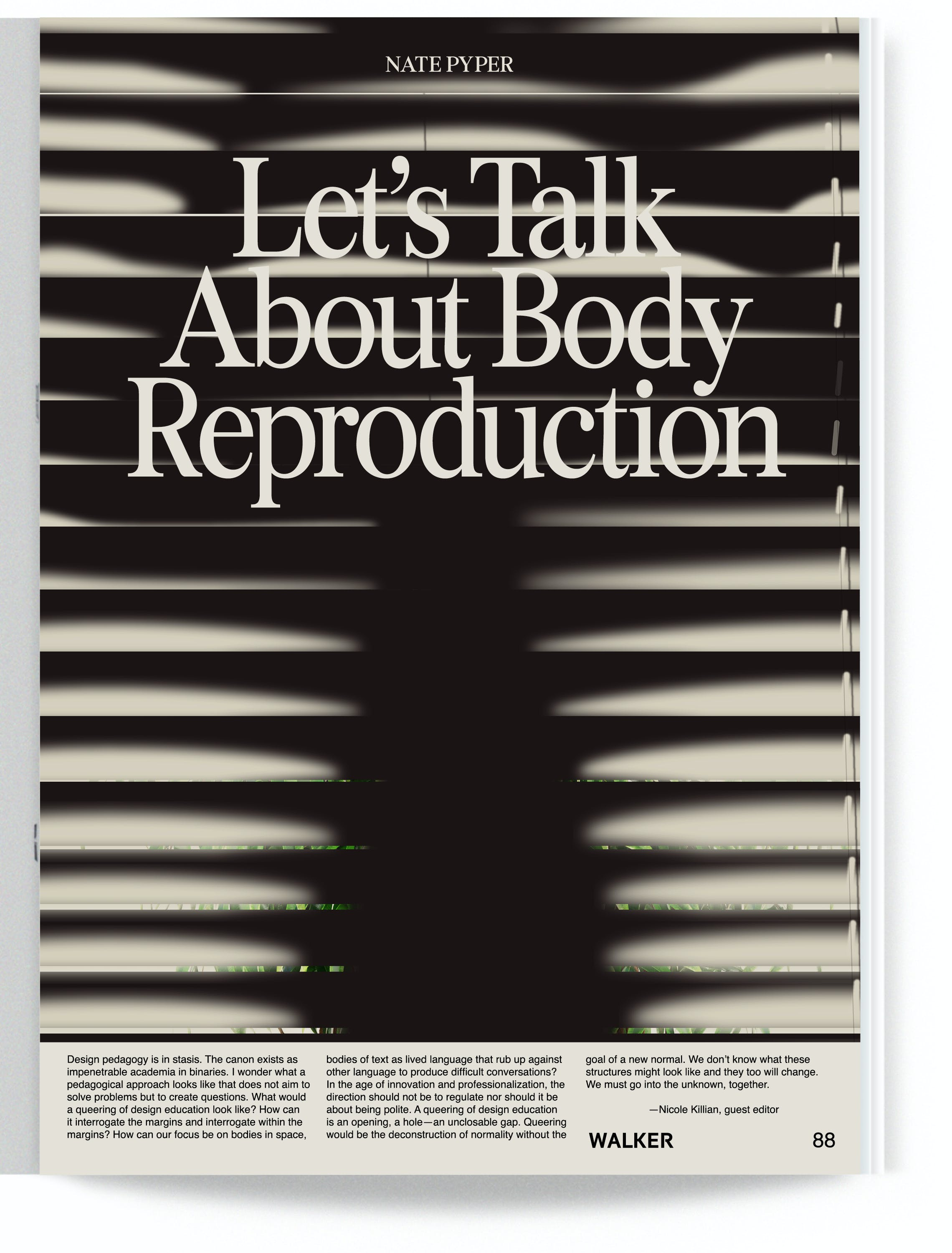 Let's Talk About Body Reproduction – Nate Pyper