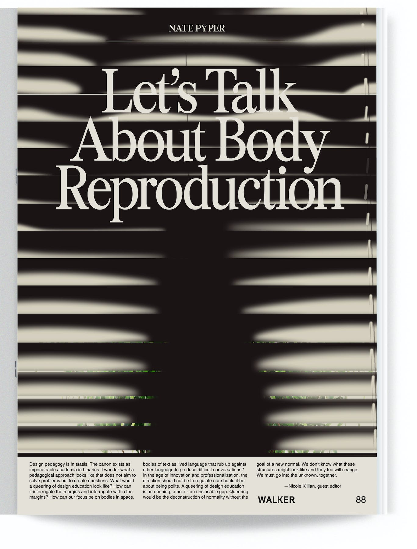 Let's Talk About Body Reproduction