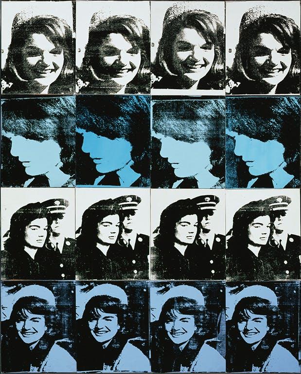 Andy Warhol, Sixteen Jackies, 1964