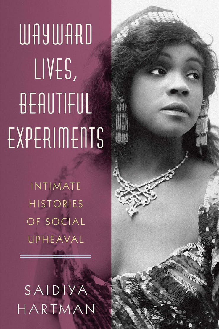 A book cover. On the left side of the cover is text on a purple background and on the right side is an image of an ornately dressed black woman.