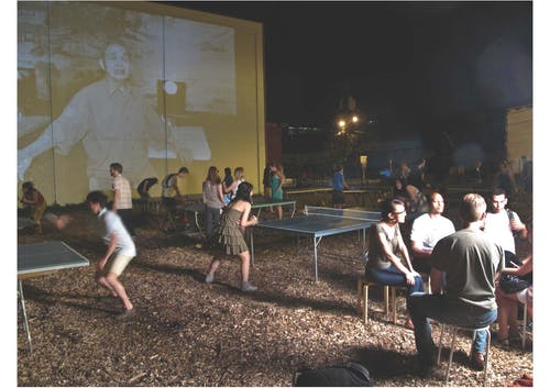 Wing Young Huie and Ashley Hanson are using PopUp Galleries to share the work they are doing for the Penn Ave North SmallArea Plan with the community - these galleries in unlikely places combine photography, ping pong, karaoke, and performance.