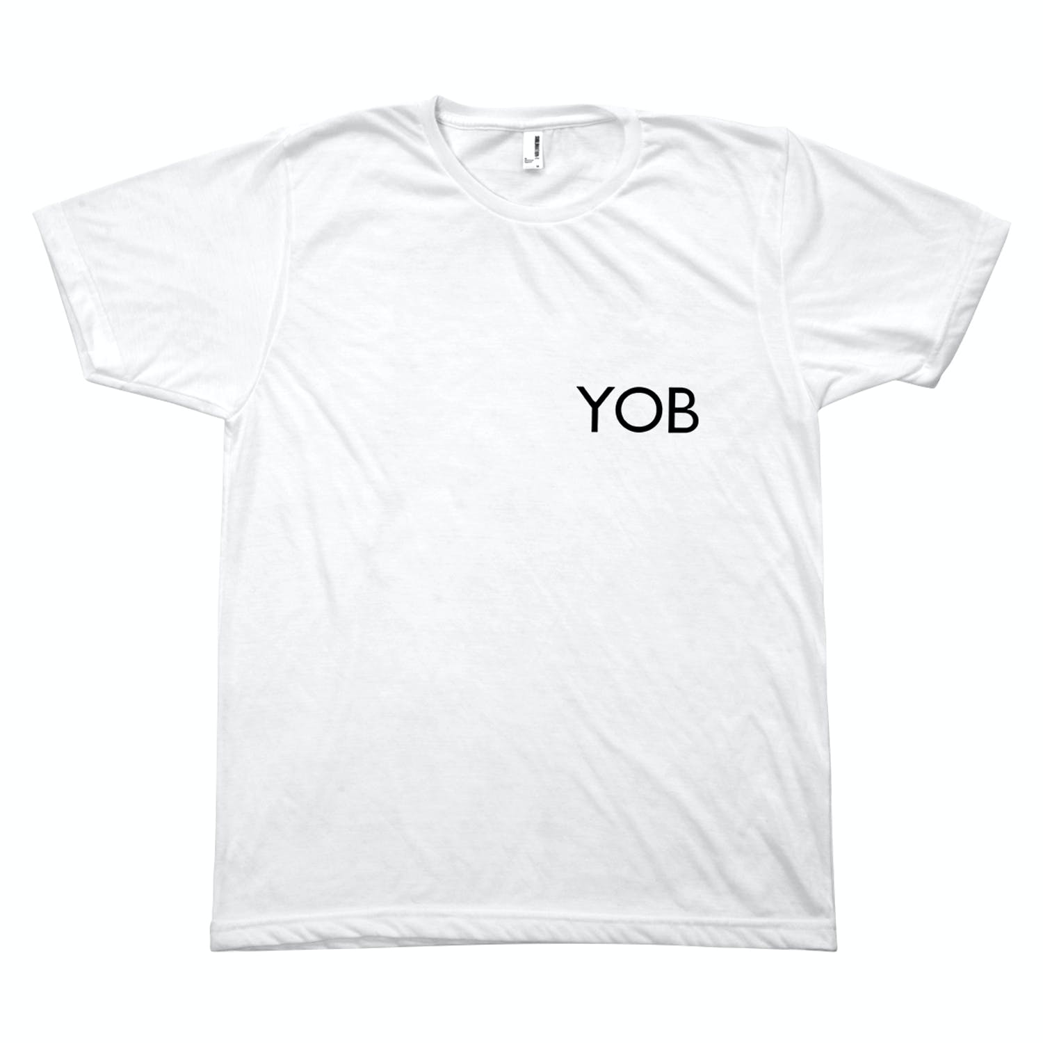 "1fa75b24 ""The YOB T-shirt is based on an existing early 1980s British bootleg T-shirt,  that simply reversed the iconic logo of the London-based, punk-era fashion  ..."
