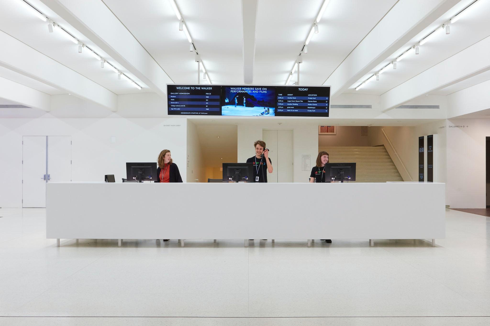 Walker Staff At Main Lobby Desk