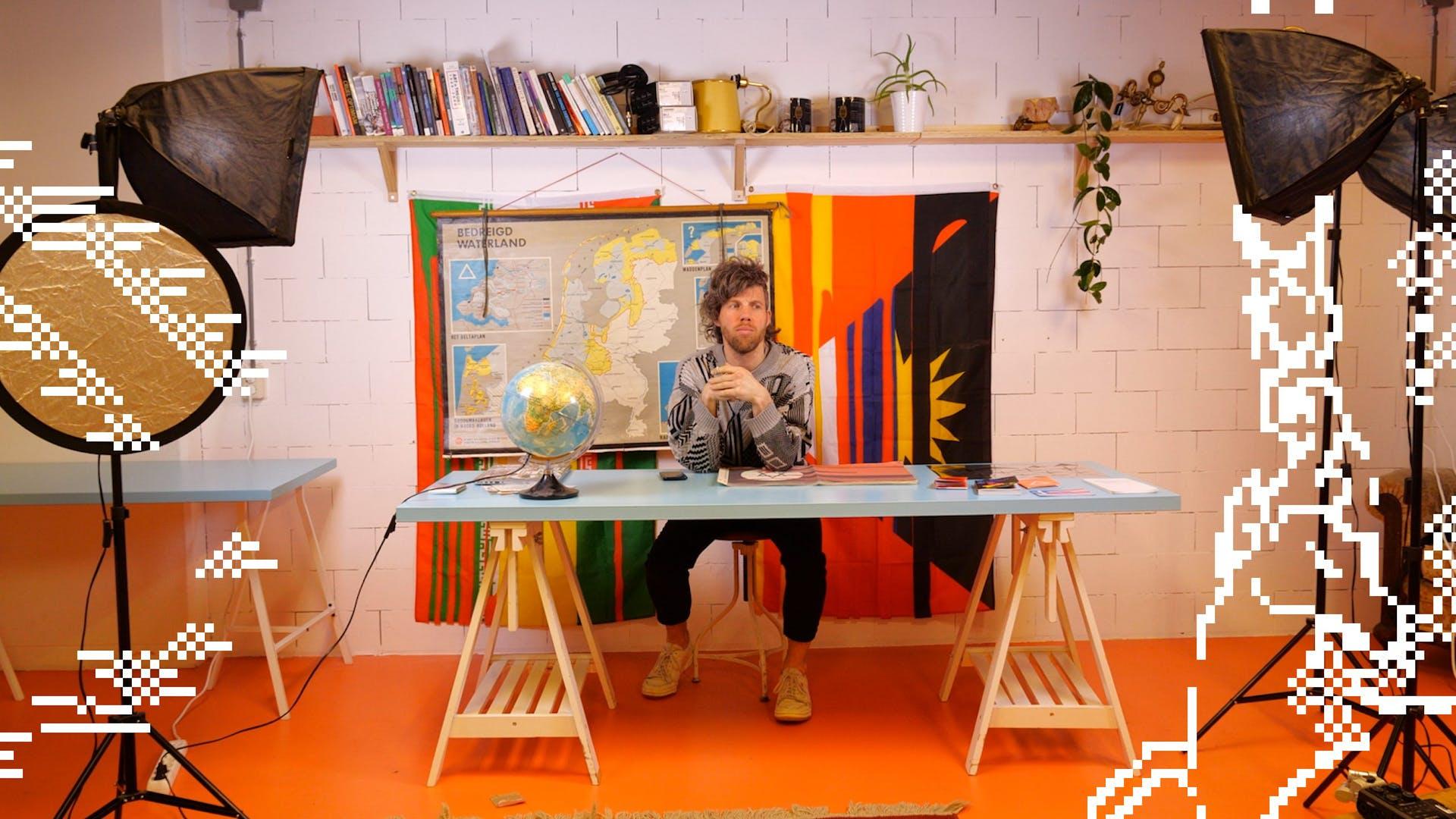 Image of designer Ruben Pater in his studio