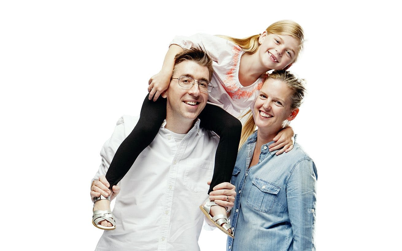 Patrick, Kelly, and Penelope Deignan