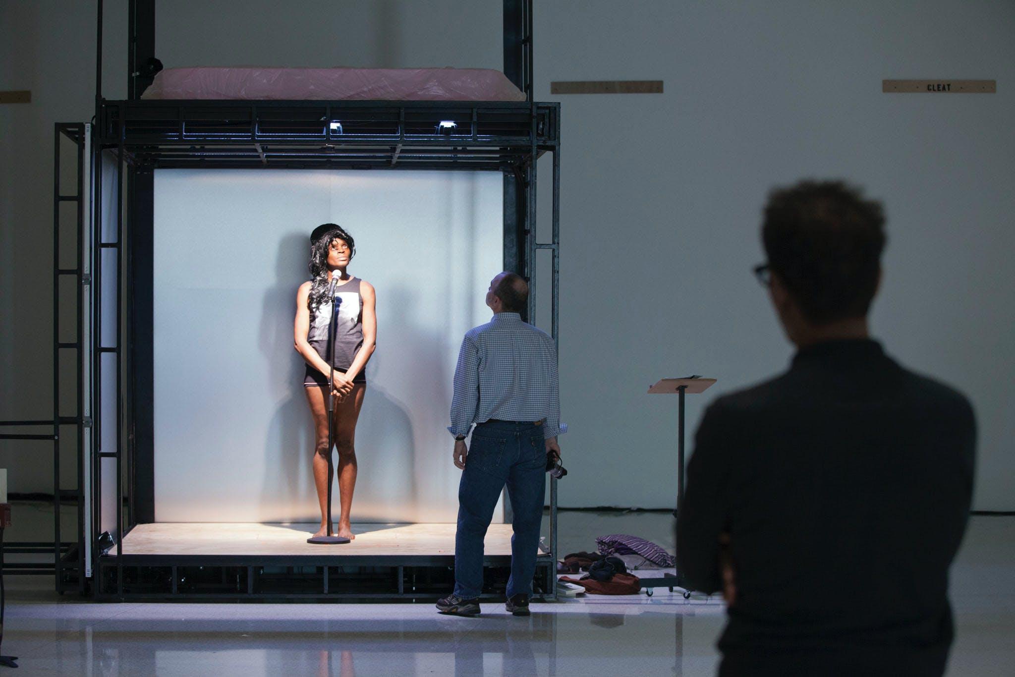 Rehearsal for Ralph Lemon, Scaffold Room, 2014