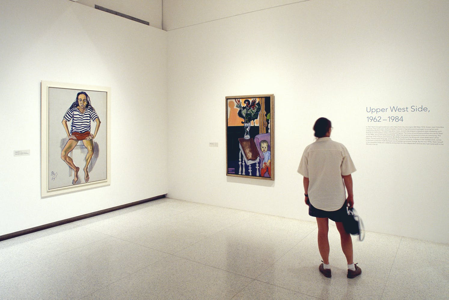 Installation view of Alice Neel