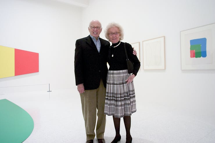 Judy Dayton standing with Elsworth Kelly