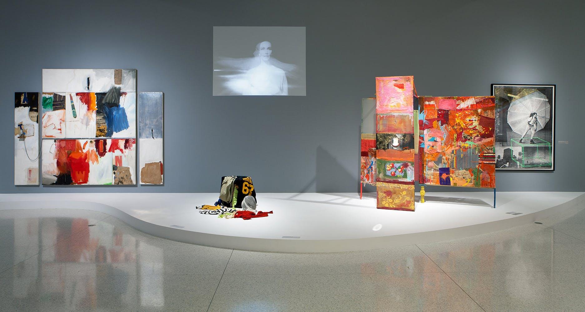 Installation view of the exhibition Dance Works I: Merce Cunningham/Robert Rauschenberg, 2011
