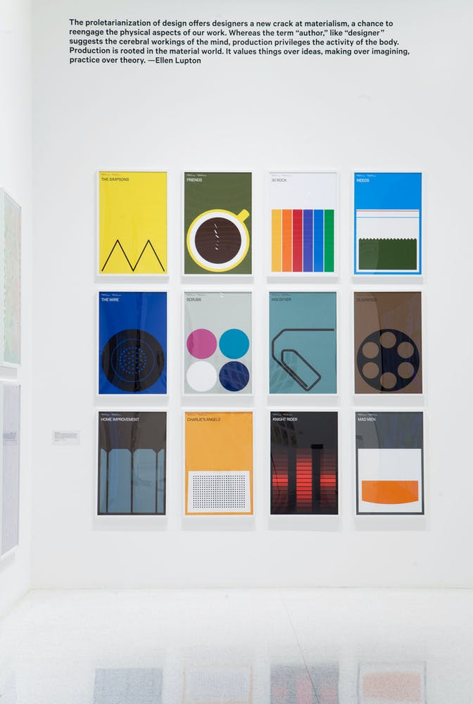 Installation view of the exhibition Graphic Design: Now in Production, 2011