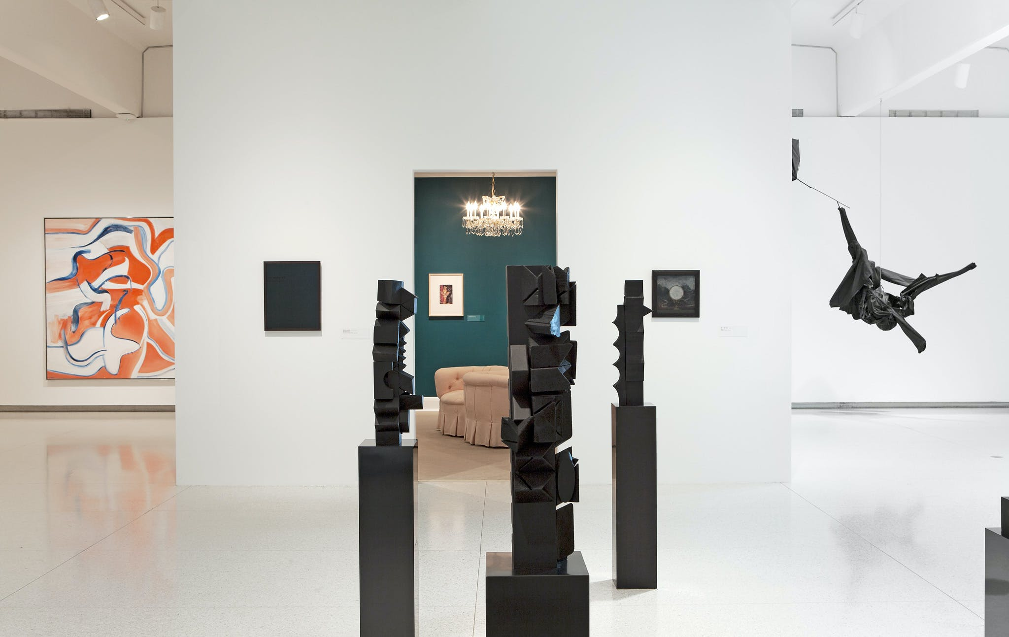 Installation view of the exhibition Midnight Party, 2011