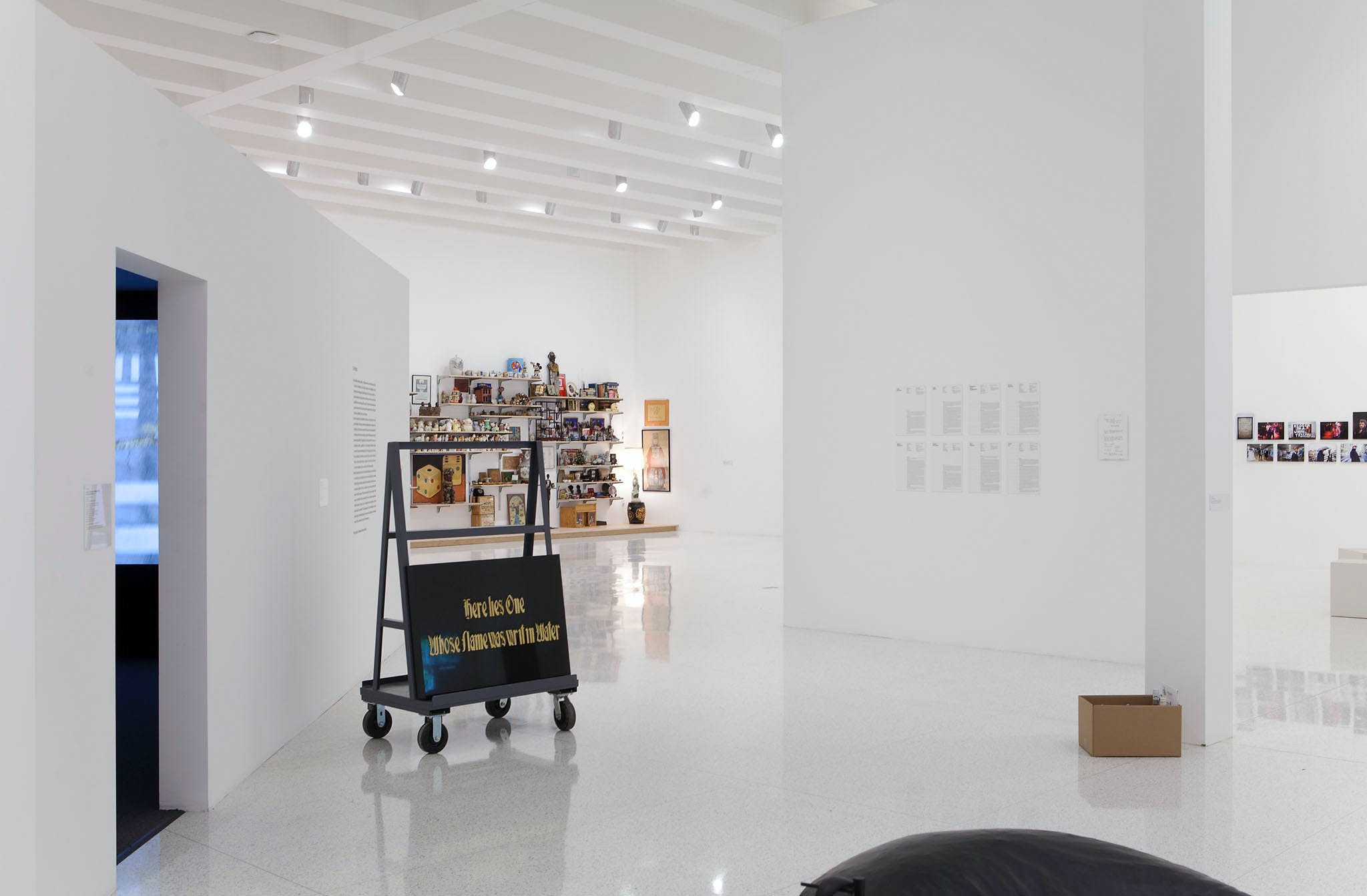 View of the exhibition 9 Artists, 2013