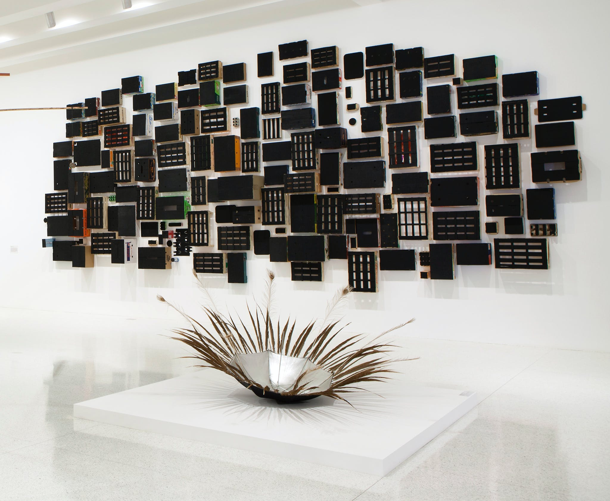 Installation view of the exhibition, Abraham Cruzvillegas: The Autoconstrucción Suites, 2013