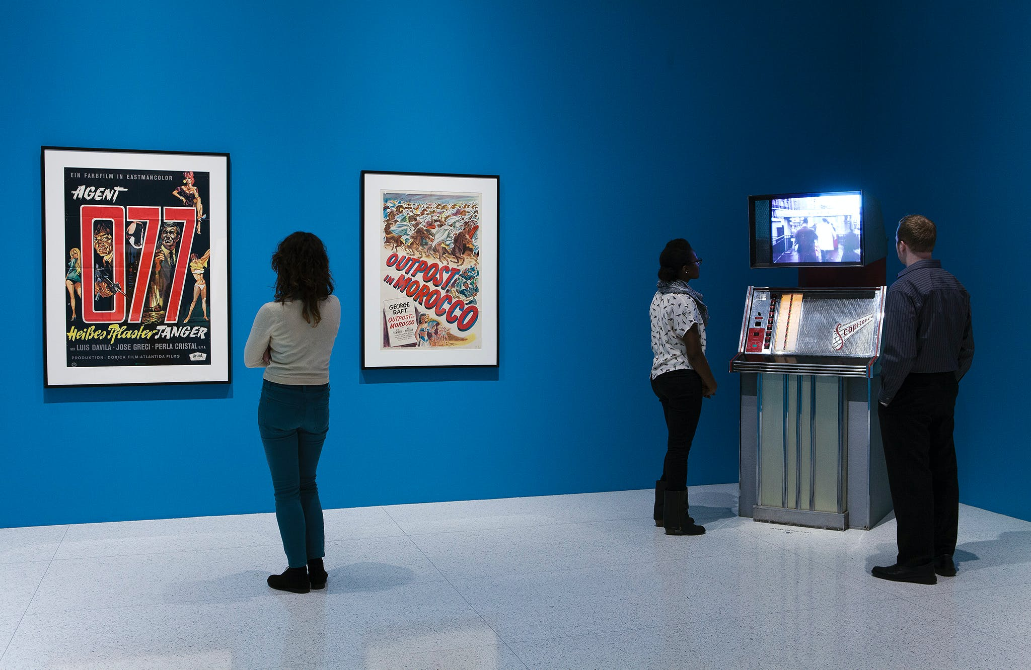 View of the exhibition Album: Cinematheque Tangier, a project by Yto Barrada, 2013