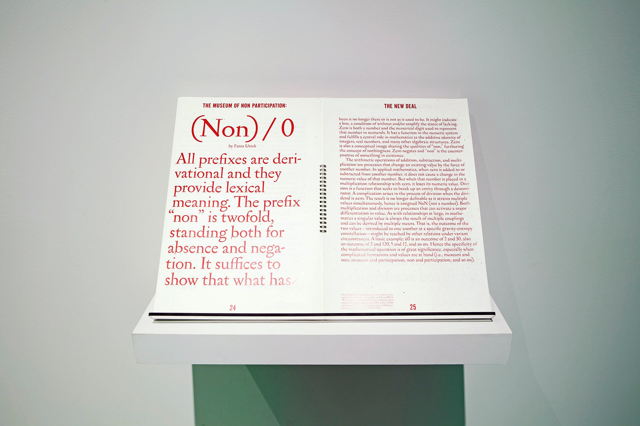Installation view of the exhibition, The Museum of Non Participation, 2013