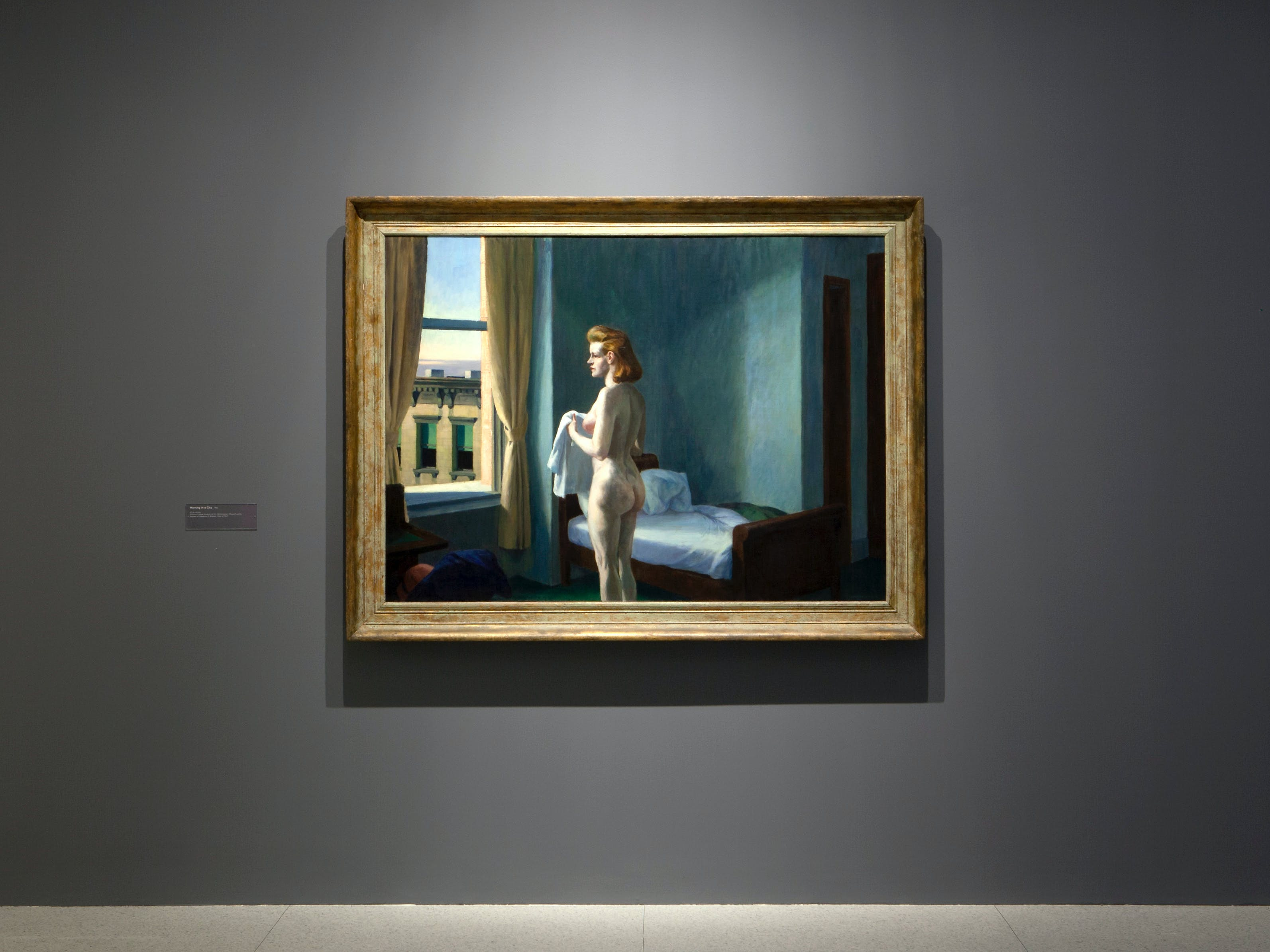 View of the exhibition Hopper Drawing: A Painter's Process, 2014; Edward Hopper, Morning in a City, 1944