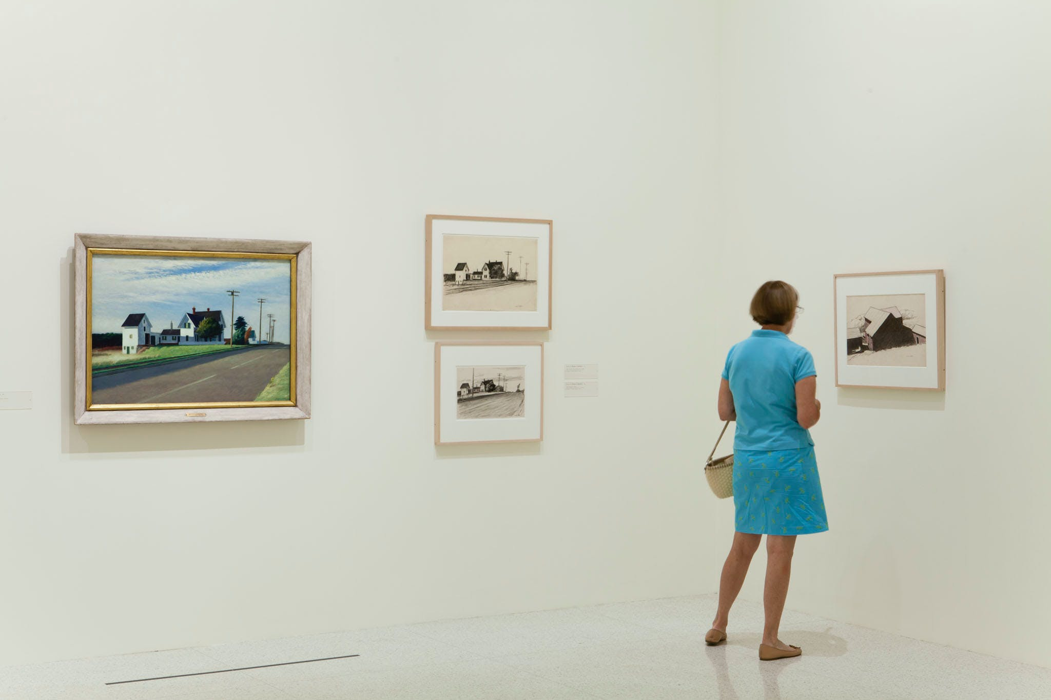 View of the exhibition Hopper Drawing: A Painter's Process, 2014