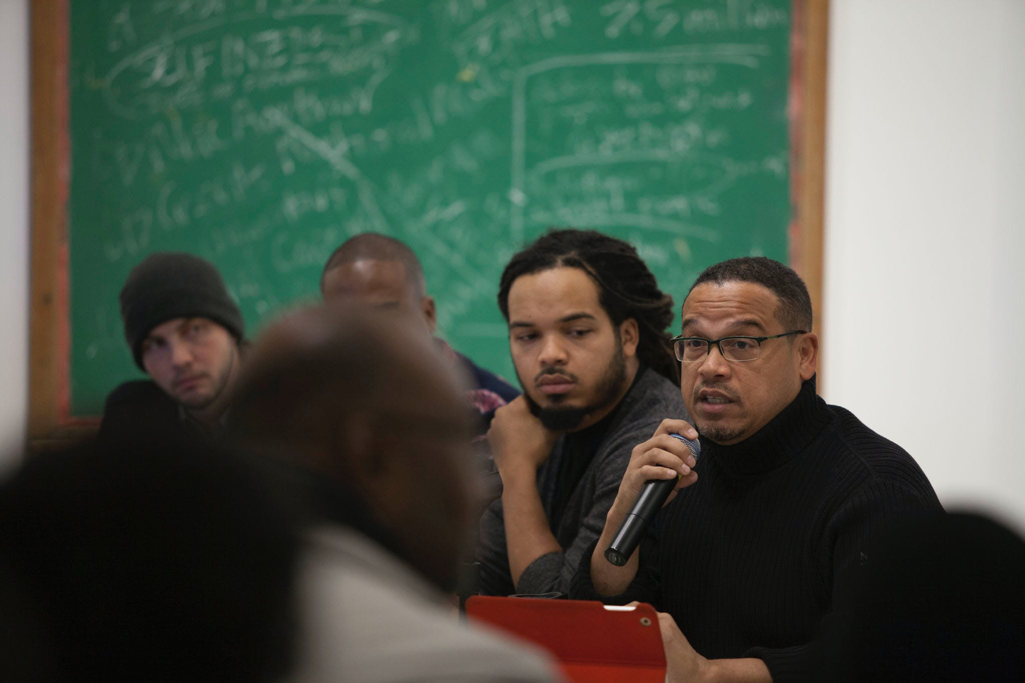 Holding Court: Congressman Keith Ellison, 2014; part of the exhibition Radical Presence: Black Performance in Contemporary Art, 2014