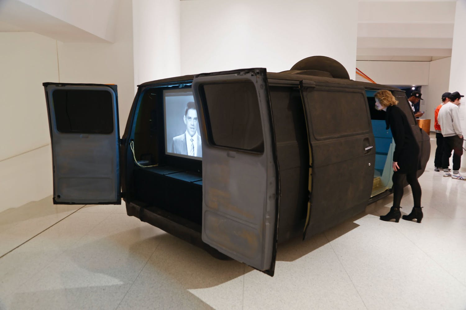 View of the exhibition Hippie Modernism: The Struggle for Utopia, 2015; Ant Farm, Media Van v.08, 2008