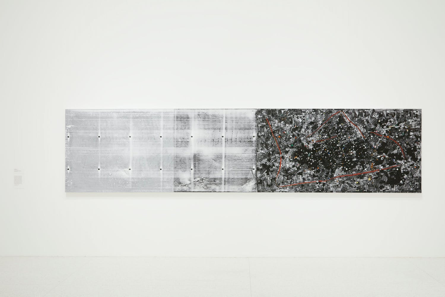 View of the exhibition Jack Whitten: Five Decades of Painting, 2015; Jack Whitten, Soul Map, 2015