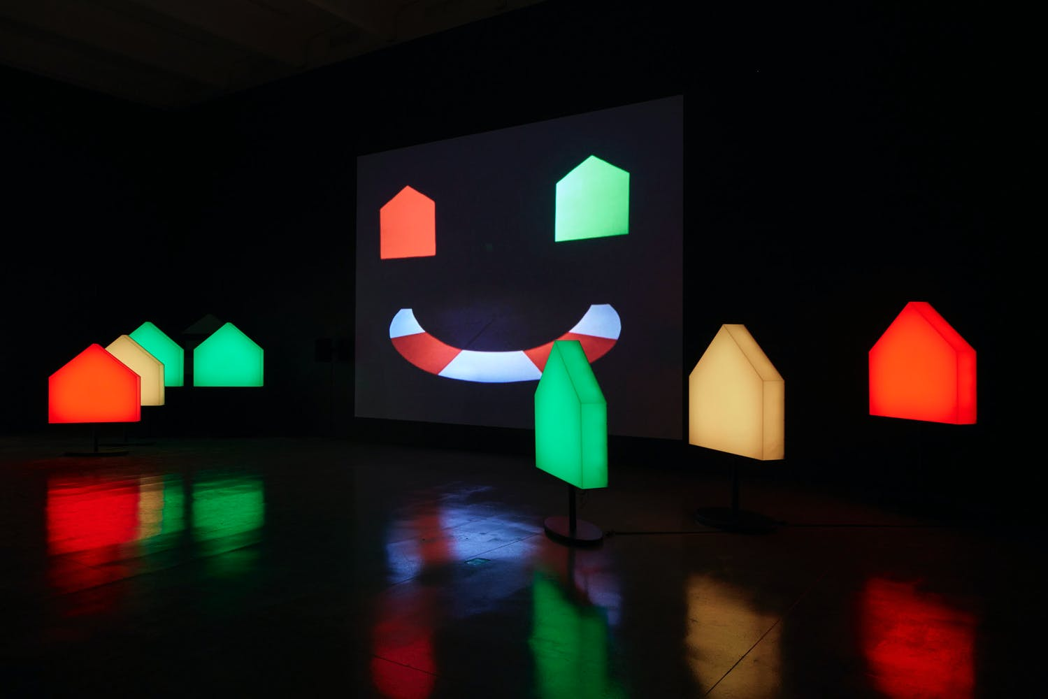 View of the exhibition Less Than One, 2016; Ericka Beckman, You The Better, Film Installation, 1983/2015 (Photo: Gene Pittman, ©Walker Art Center)
