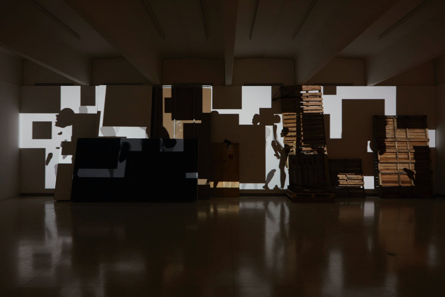 View of the exhibition Less Than One, 2016; Paul Chan, Sade for Sade's sake, 2009 (Photo: Gene Pittman, ©Walker Art Center)